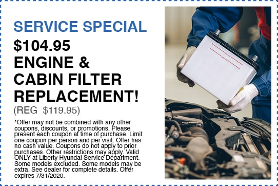 $104.95 Engine & Cabin Filter Replacement!  (Reg $119.95)