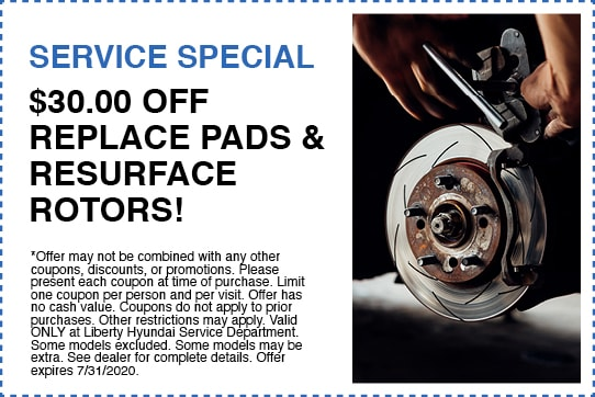 $30.00 Off Replaced Pads & Resurfaced Rotors!