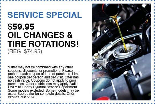 $59.95 Oil Changes & Tire Rotation (Reg $74.95)