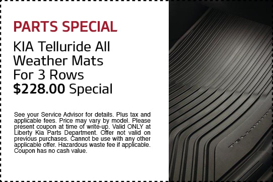 KIA Telluride All-Weather Mats for 3 Rows $228.00 Special