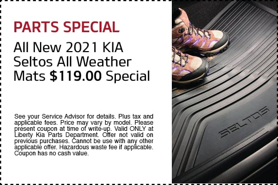 All New 2021 Kia Seltos All-Weather Mats $119.00 Special