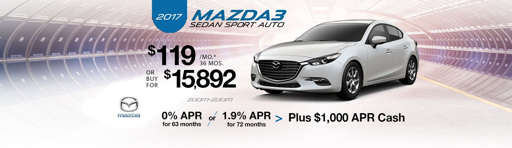 2017 Mazda3 Sedan Sport Auto Lease Special at Liberty Mazda