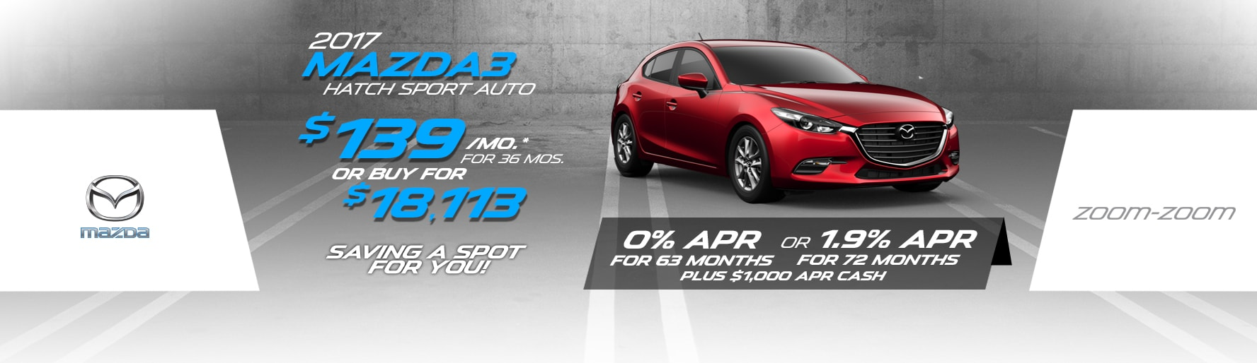 2017 Mazda3 Hatch Sport Auto Lease Special at Liberty Mazda