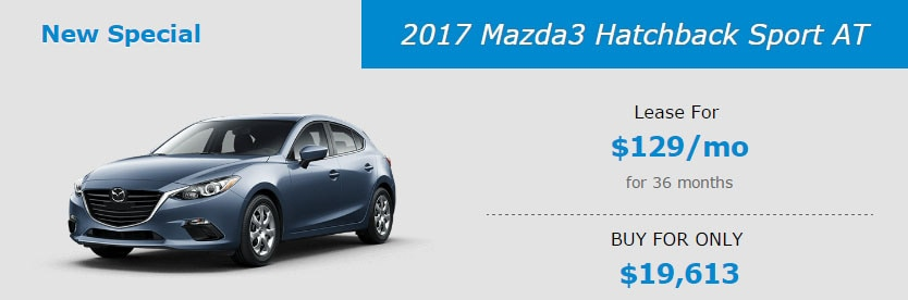 2017 Mazda3 Hatchback Sport AT Lease Special at Liberty Mazda