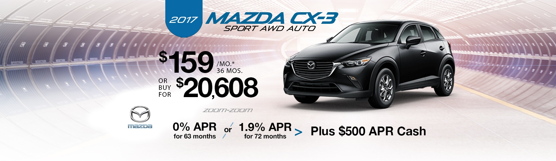 2017 Mazda CX-3 Sport AWD Auto Lease Special at Liberty Mazda
