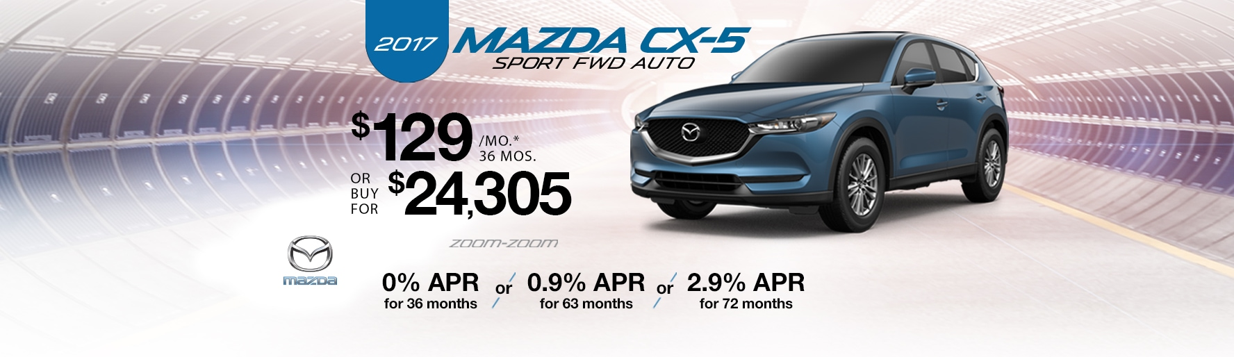 2017 Mazda CX-5 Sport FWD Auto Lease Special at Liberty Mazda