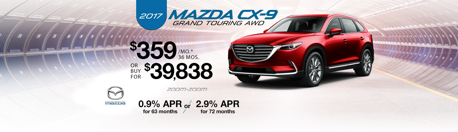 2017 Mazda CX-9 Grand Touring AWD Lease Special at Liberty Mazda