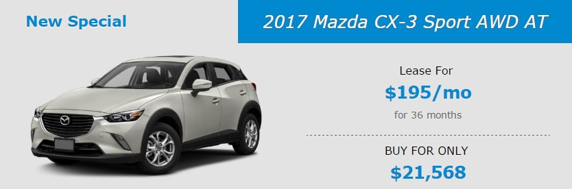 2017 Mazda CX-3 Sport AWD AT Lease Special at Liberty Mazda