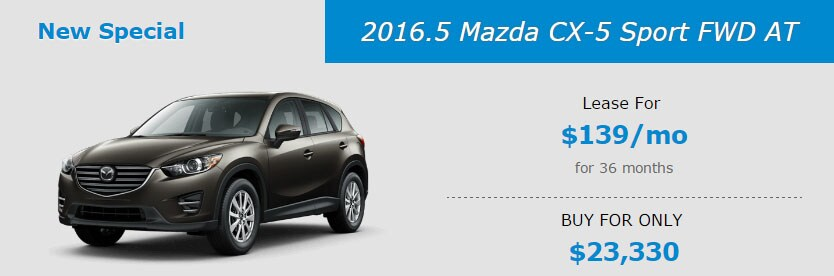 2016.5 Mazda CX-5 Sport FWD AT Lease Special at Liberty Mazda