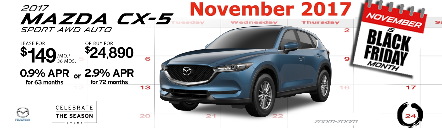 2017 Mazda CX-5 Sport AWD Auto Lease Special at Liberty Mazda