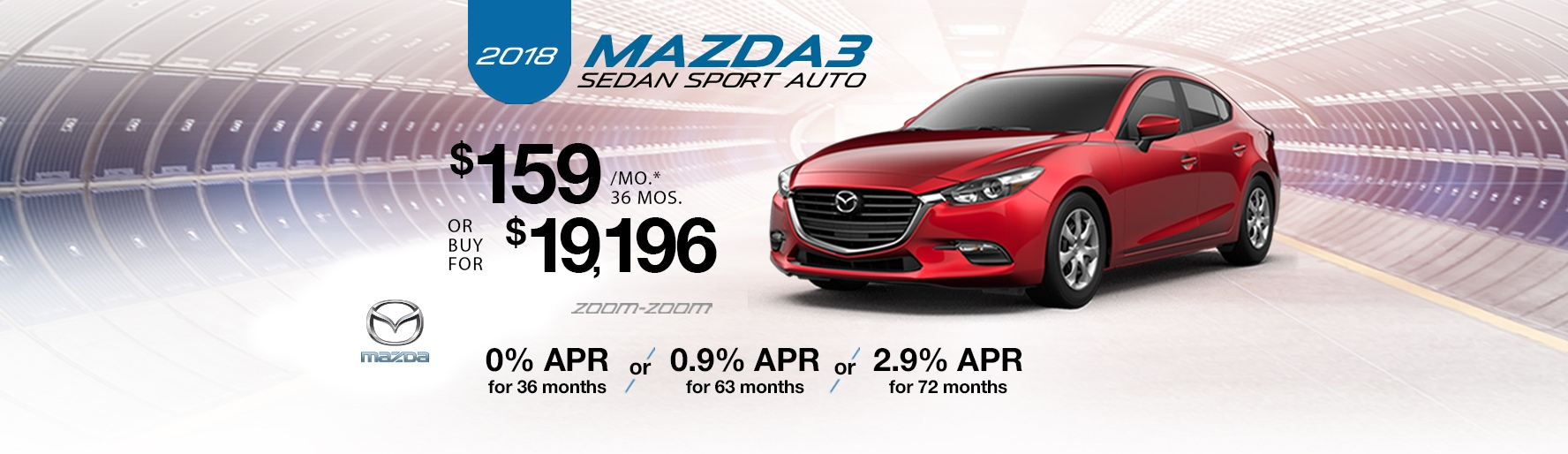 2018 Mazda3 Sedan Sport Auto Lease Special at Liberty Mazda