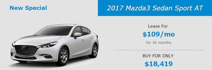 2017 Mazda3 Sedan Sport AT Lease Special at Liberty Mazda