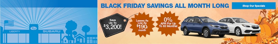 Black Friday Savings All Month Long!