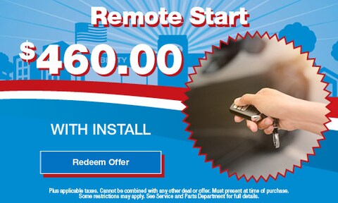 Remote Start $460.00 with Install