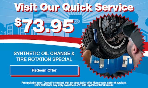Quick Service Synthetic Oil Change & Tire Rotation Special