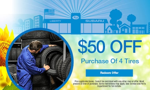 $50 OFF Purchase of 4 Tires