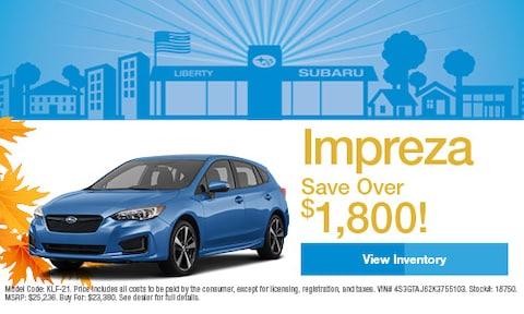 2019 Subaru Impreza Savings