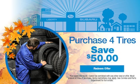 $50.00 OFF When You Purchase 4 Tires