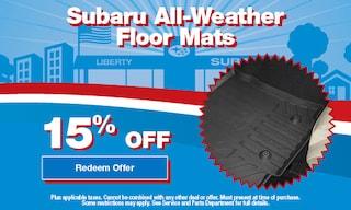 15% OFF Subaru All-Weather Floor Mats