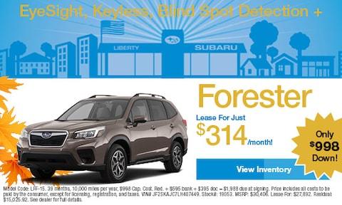 2020 Subaru Forester Lease