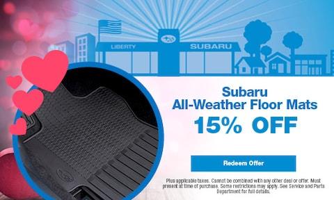 Subaru All-Weather Floor Mats 15% OFF
