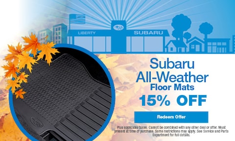 15% OFF Subaru All-Weather Floor Mats