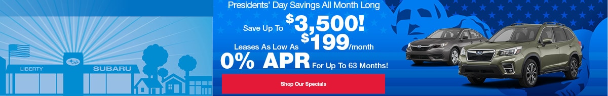 Presidents' Day Savings All Month Long