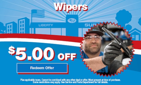 Wipers  $5.00 OFF
