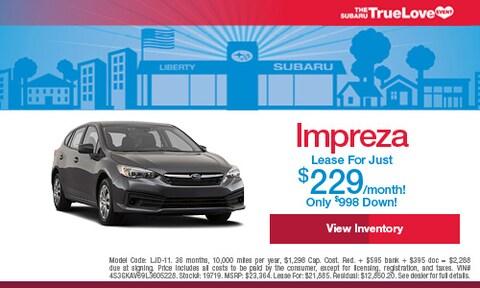 New Impreza Lease For