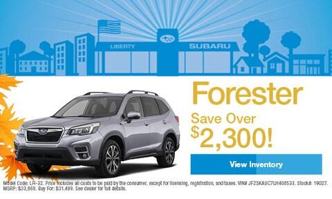 2020 Subaru Forester Savings