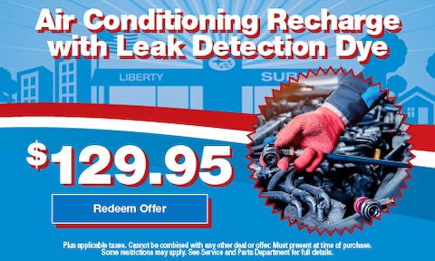 Air Conditioning Recharge with Leak Detection Dye