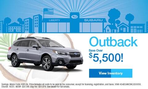 2019 Subaru Outback Savings