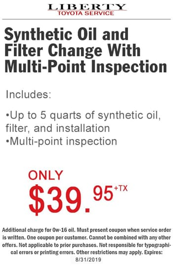 Toyota Oil Change Coupon >> Toyota Service Parts Specials In Burlington Nj Find Special