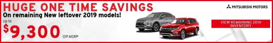 Savings On Remaining New 2019 Mitsubishi Models