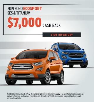 2019 Ford EcoSport SES & Titanium