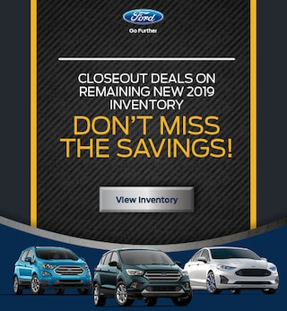 Closeout Deals on Remaining New 2019 Inventory
