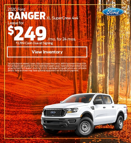 2020 Ford Ranger XL SuperCrew 4x4