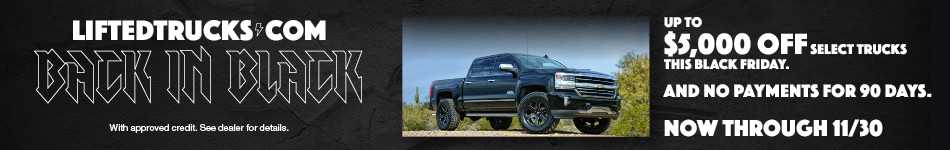 Lifted Trucks Back in Black Special Offer