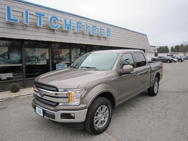 Used 2018 Ford F-150 Lariat 4X4 Crew Cab/V8/Leather/Alloys/Sync3/Rear Camera/Trailer Hitch/Bedliner For Sale Litchfield, Connecticut