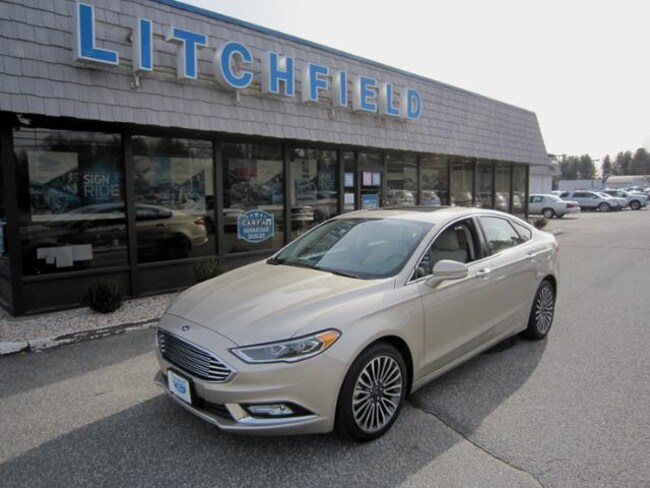 Used 2018 Ford Fusion Titanium AWD Sedan/Nav/Moonroof/Heated Leather/Alloys/Sync3/Rear Camera For Sale Litchfield, Connecticut