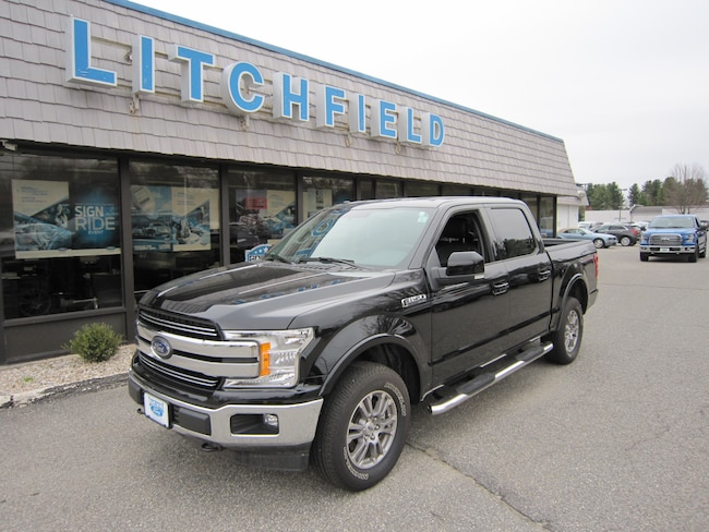Used 2018 Ford F-150 Lariat 4X4 Crew Cab/V8/Leather/Alloys/Bluetooth/Bedliner/Trailer Hitch/Running Boards For Sale Litchfield, Connecticut