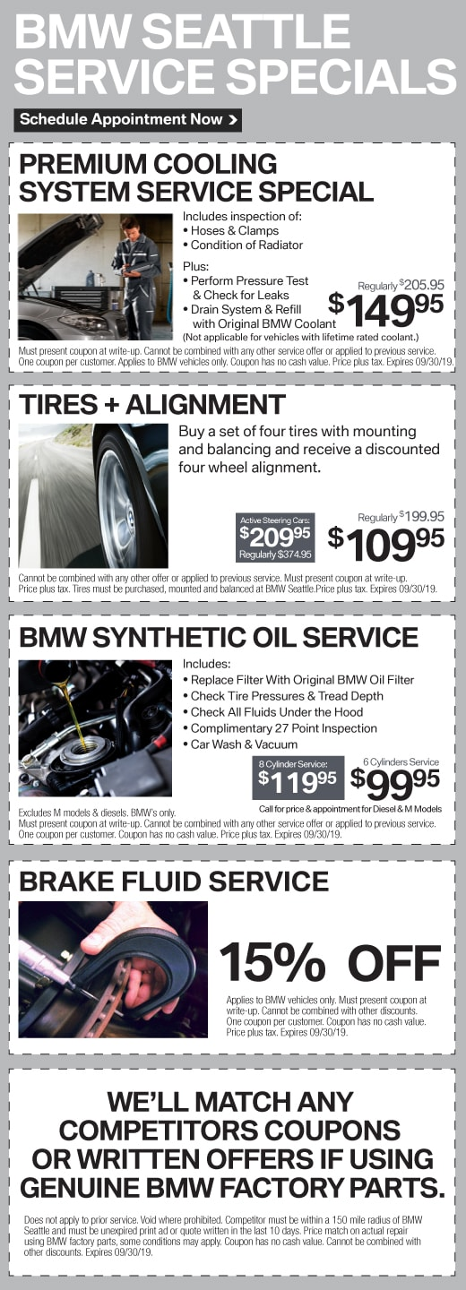 BMW Seattle Service Specias