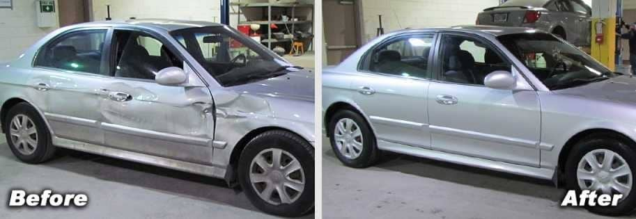 Hyundai Before and After - Lithia Downtown Body and Paint