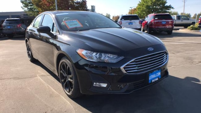 Black Ford Fusion >> New 2019 Ford Fusion Se Sedan Agate Black For Sale In Boise Id
