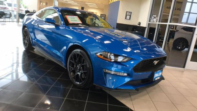 New 2019 Ford Mustang Ecoboost Premium Coupe Velocity Blue For Sale