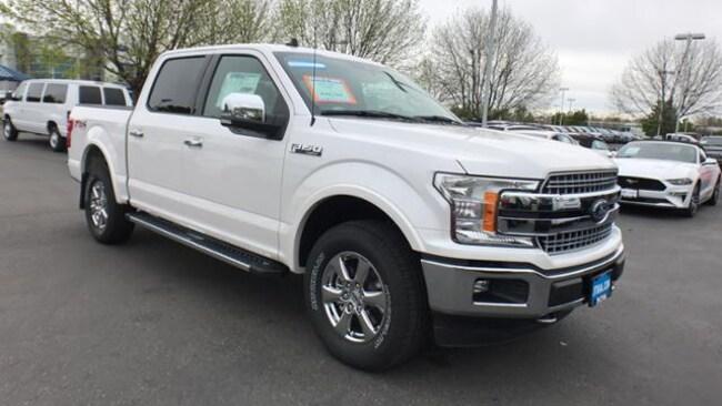 Lithia Ford Boise >> New 2019 Ford F 150 Lariat Truck Supercrew Cab White Platinum Tri