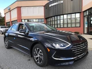 New 2021 Hyundai Sonata Hybrid Blue Car Bennington VT