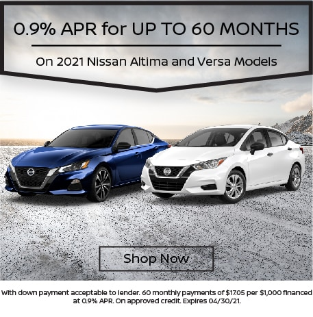 0.9% APR for up to 60 Months