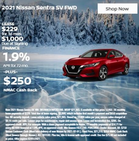 2021 Nissan Sentra SV FWD