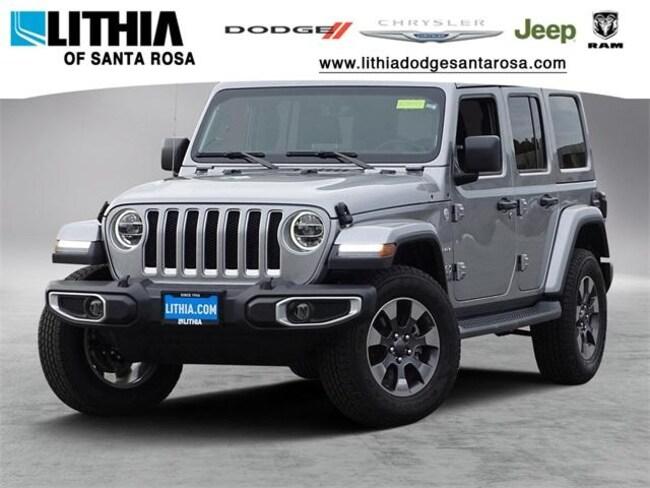New 2018 Jeep Wrangler UNLIMITED SAHARA 4X4 Sport Utility Santa Rosa, CA